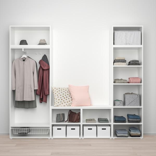 PLATSA Wardrobe with 9 doors, white/Fonnes Ridabu, 260x42x221 cm
