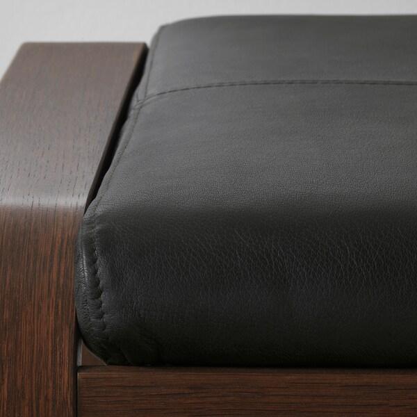 POÄNG footstool brown/Smidig black 68 cm 54 cm 39 cm 54 cm 54 cm 38 cm