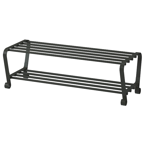 PORTIS shoe rack black 90 cm 34 cm 28 cm