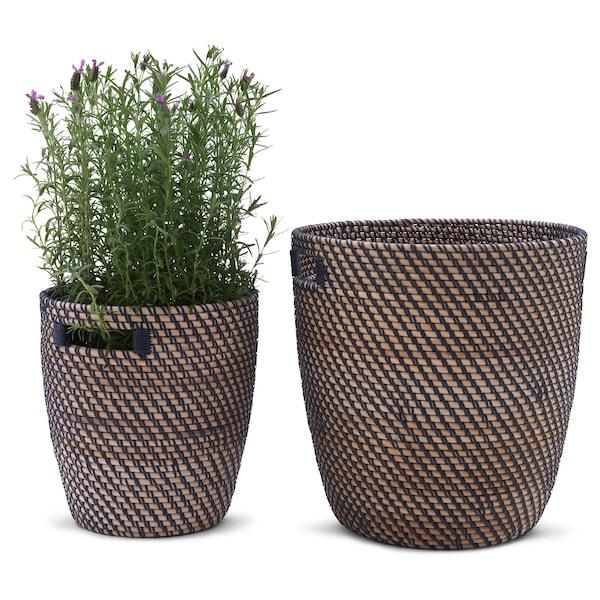 RÅGKORN Plant pot, in/outdoor natural, 24 cm
