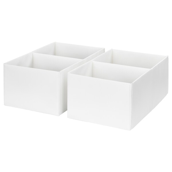 RASSLA box with compartments white 25 cm 41 cm 16 cm 2 pack
