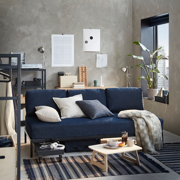 RÅVAROR Day-bed, Vansta dark blue, 90x200 cm