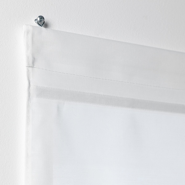 RINGBLOMMA Roman blind, white, 140x160 cm