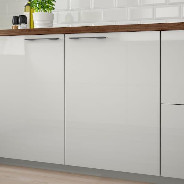 RINGHULT Door, high-gloss light grey, 40x60 cm