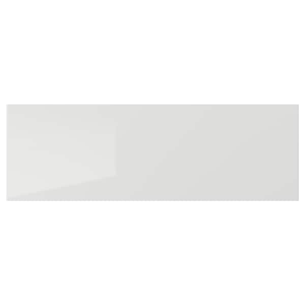 RINGHULT Drawer front, high-gloss light grey, 60x20 cm
