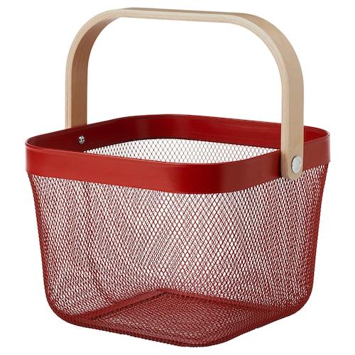 RISATORP basket red 25 cm 26 cm 18 cm