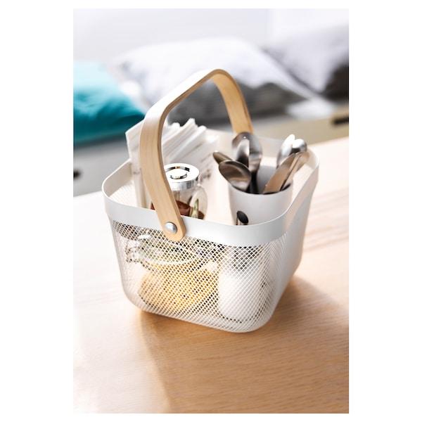 RISATORP Basket, white, 25x26x18 cm