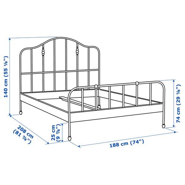 SAGSTUA هيكل سرير, أبيض/Lonset, 180x200 سم