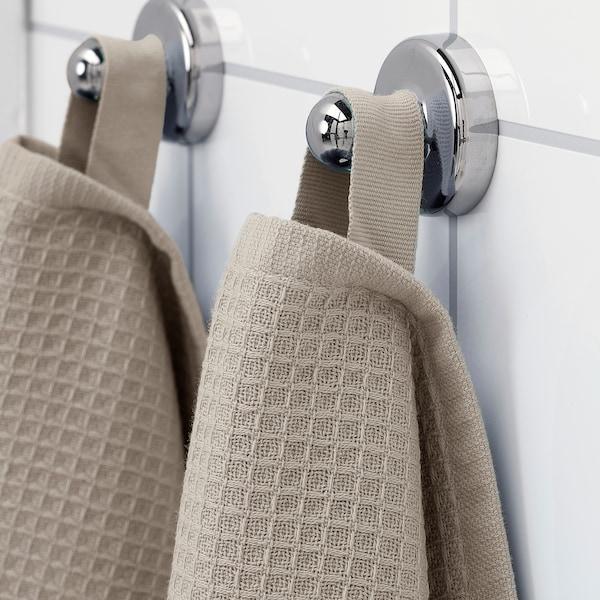 SALVIKEN Hand towel, dark beige, 40x70 cm
