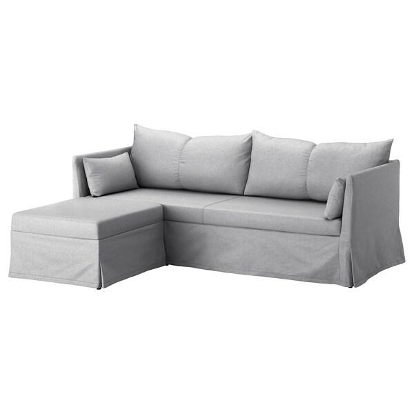 SANDBACKEN Corner sofa, 3-seat, Frillestad light grey