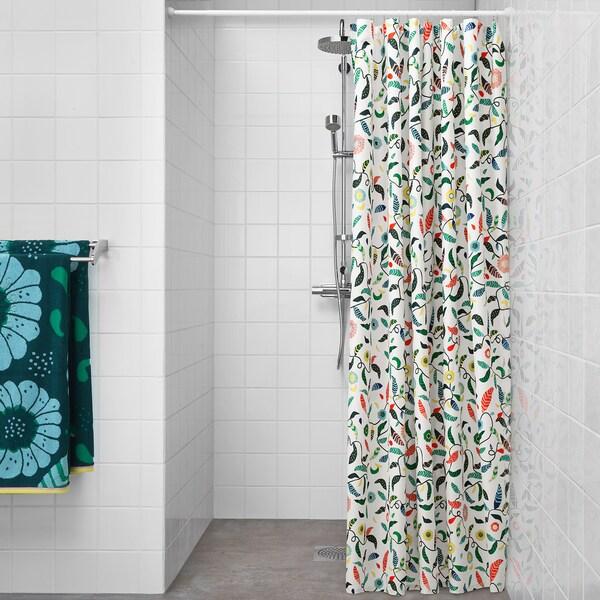 SANDBREDAN shower curtain multicolour 130 g/m² 200 cm 180 cm 3.60 m² 130 g/m²