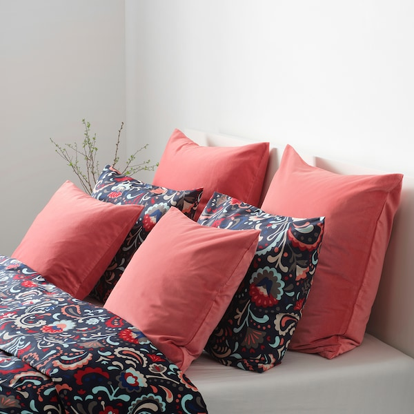 SANELA غطاء وسادة, أحمر-بني فاتح, 50x50 سم