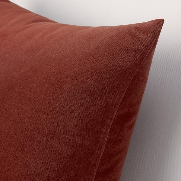 SANELA غطاء وسادة, أحمر/بني, 50x50 سم
