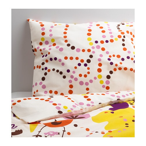 SÅNGFÅGEL Quilt cover and pillowcase IKEA Cotton, soft and nice against your child's skin.