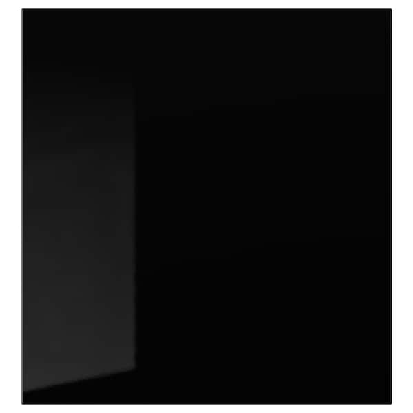 SELSVIKEN باب, لامع أسود, 60x64 سم