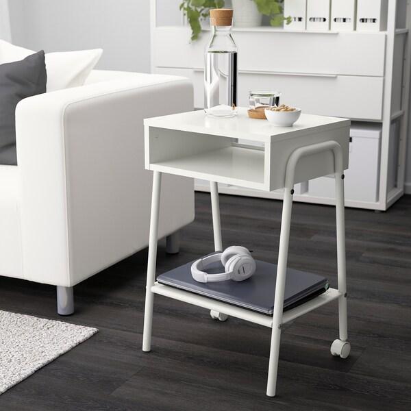 SETSKOG Bedside table, white, 45x35 cm