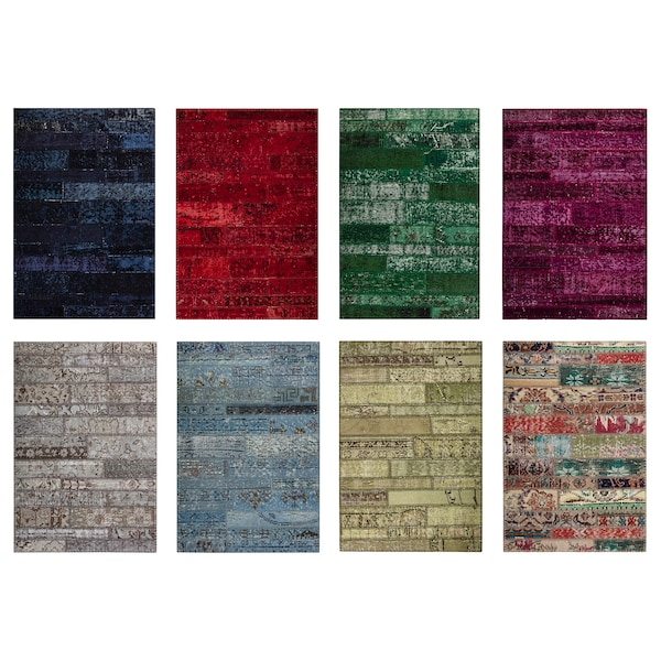 SILKEBORG Rug, low pile, assorted colours, 60x90 cm