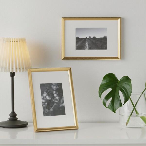 SILVERHÖJDEN Frame, gold-colour, 21x30 cm