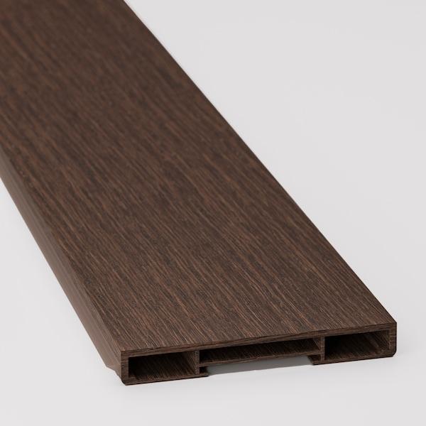 SINARP قاعدة, بني مظهر الخشب, 220x8 سم