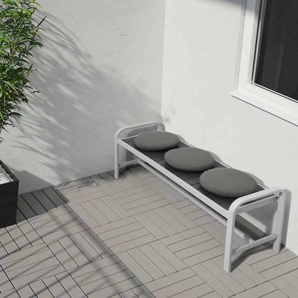 SJÄLLAND bench, outdoor light grey/dark grey 136 cm 42 cm 52 cm 127 cm 42 cm 43 cm