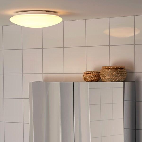 SJÖGÅNG LED ceiling/wall lamp, white, 25 cm