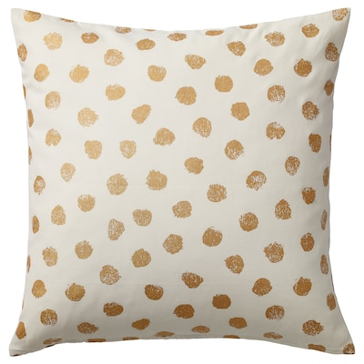 SKÄGGÖRT Cushion cover, white/gold-colour, 50x50 cm