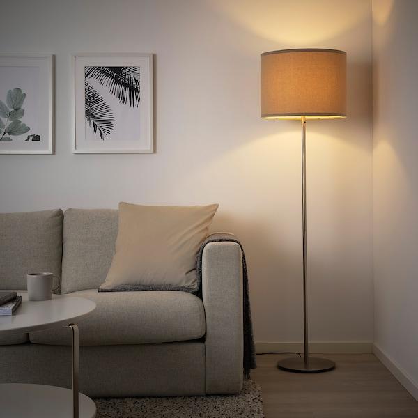 SKAFTET Floor lamp base, brass-colour
