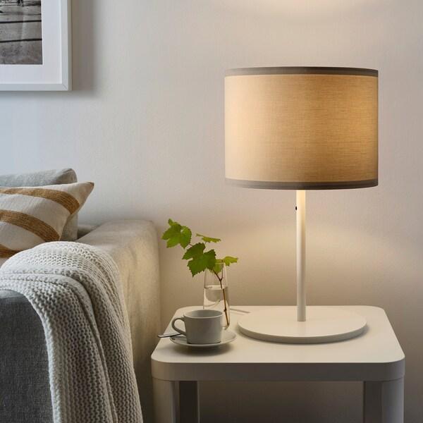 SKAFTET Table lamp base, white, 38 cm