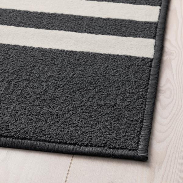 SKELDE rug, low pile black/multicolour 180 cm 120 cm 7 mm 2.16 m² 900 g/m² 340 g/m²