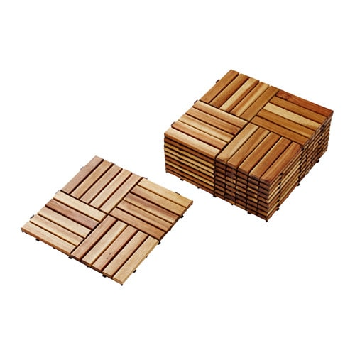 SKOGHALL Floor decking IKEA The sections can be hooked together to ...