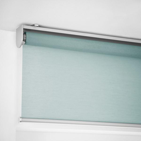 SKOGSKLÖVER Roller blind, green, 80x195 cm