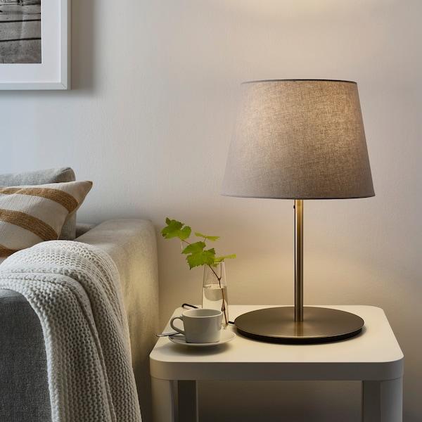 SKOTTORP Lamp shade, light grey, 33 cm