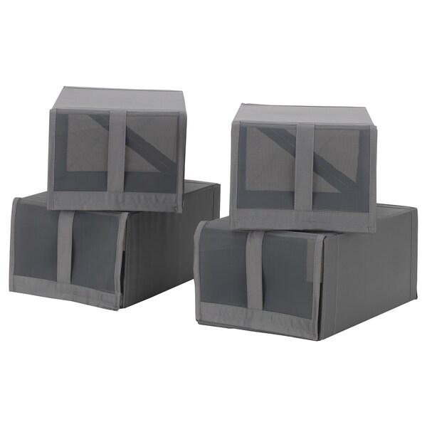 SKUBB Shoe box, dark grey, 22x34x16 cm