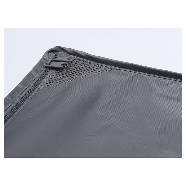 SKUBB صندوق تخزين ورق تغليف, رمادي غامق, 90x30x15 سم