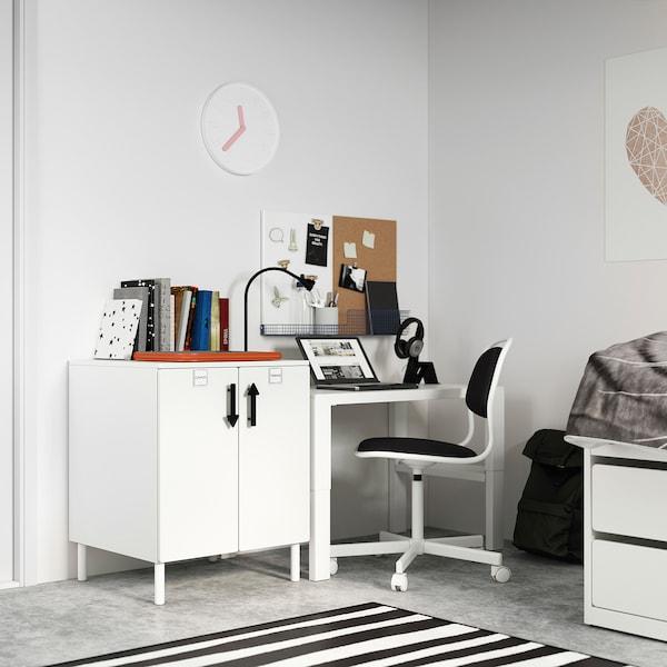 SMÅSTAD / PLATSA Cabinet, white white/with 1 shelf, 60x57x63 cm
