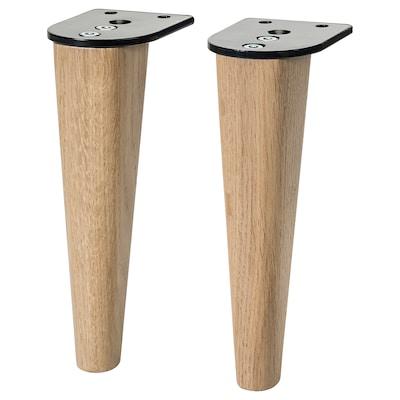 SMEDSTORP Legs for sofa, oak natural