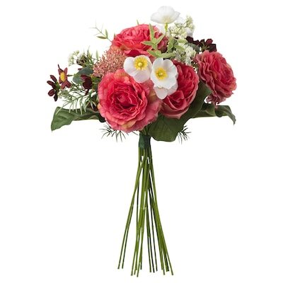 SMYCKA Artificial bouquet, dark pink, 50 cm