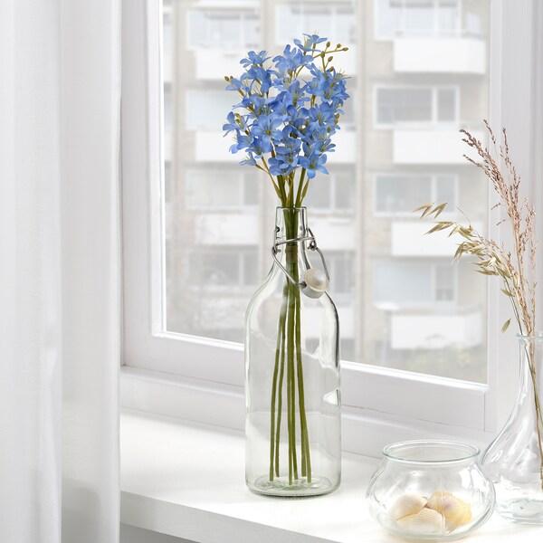 SMYCKA Artificial bouquet, in/outdoor/Freesia blue, 43 cm