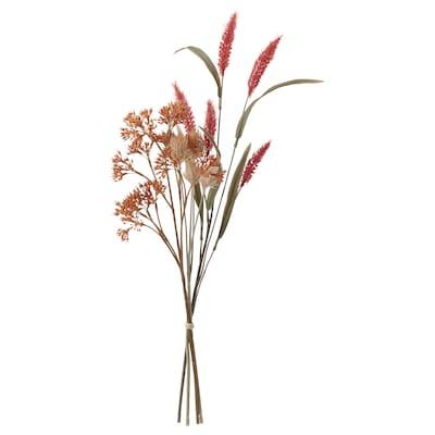 SMYCKA Artificial bouquet, in/outdoor orange, 60 cm