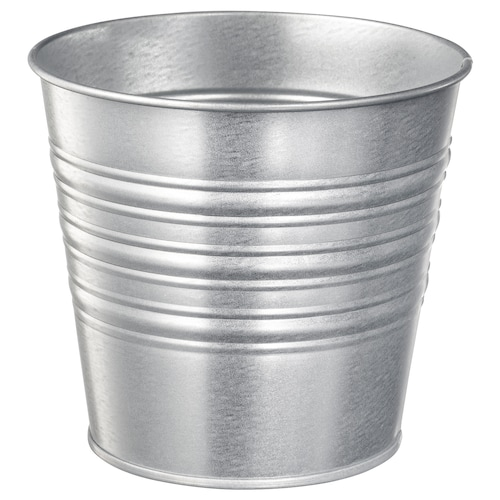 SOCKER plant pot in/outdoor/galvanised 12 cm 14 cm 12 cm 13 cm