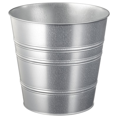 SOCKER Plant pot, in/outdoor/galvanised, 24 cm