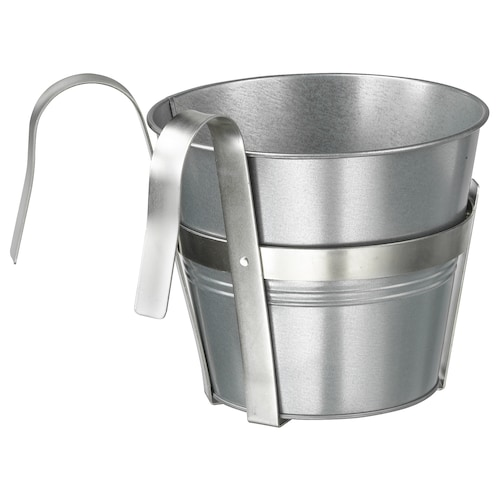 SOCKER plant pot with holder in/outdoor/galvanised 23 cm 17 cm 19 cm 19 cm 17 cm 18 cm