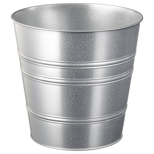 SOCKER plant pot in/outdoor/galvanised 24 cm 27 cm 24 cm 26 cm
