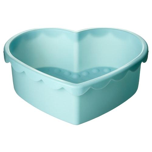 SOCKERKAKA baking mould heart-shaped light blue 1.5 l