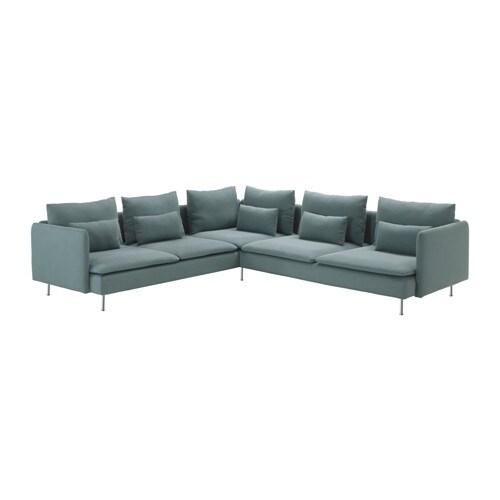 S derhamn corner sofa 2 2 finnsta turquoise ikea - Canape turquoise ikea ...