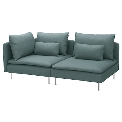SÖDERHAMN 3-seat sofa, with open end/Finnsta turquoise