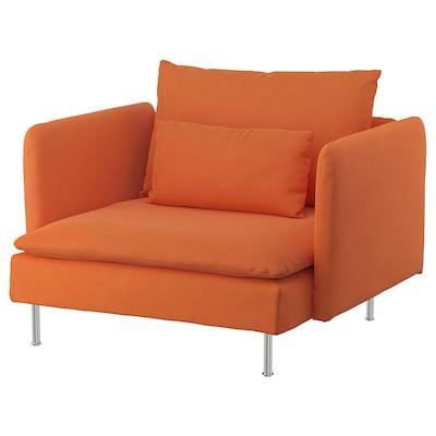 SÖDERHAMN كرسي بذراعين, Samsta برتقالي