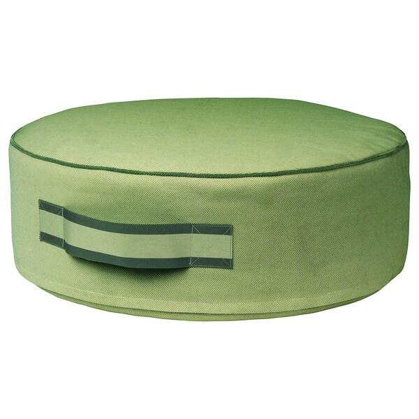 SOLBLEKT Pouffe, green, 55 cm