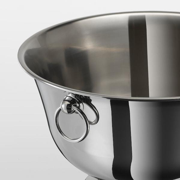 SOLDRÄNKT Champagne bowl, stainless steel, 22 cm
