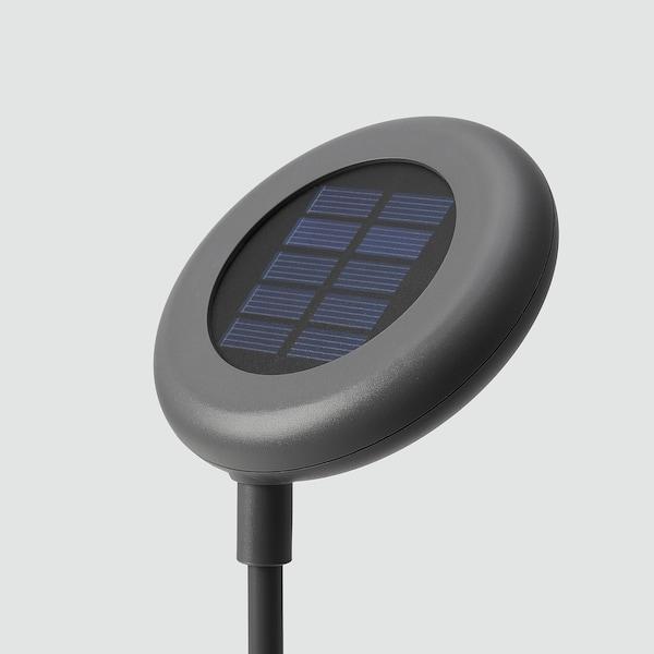 SOLVINDEN LED solar-powered ground stick, outdoor/grey